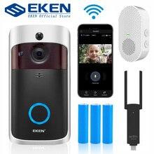 EKEN V5 Smart IP wideodomofon WIFI wideodomofon dzwonek do drzwi wizjer wbudowaną kamerą wi fi IR Alarm bezprzewodowa kamera do monitoringu