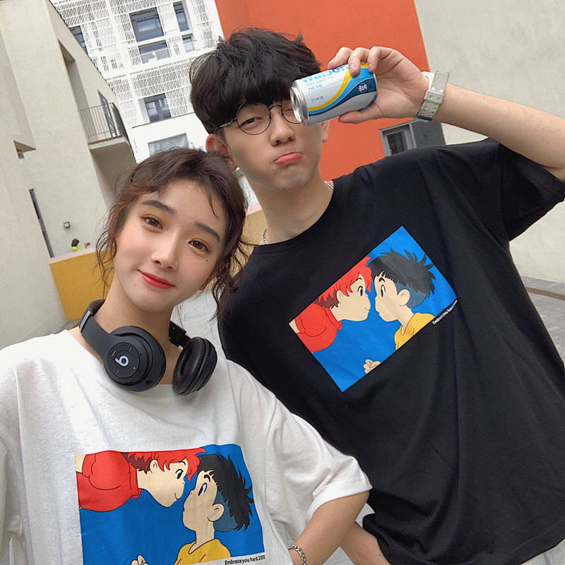 Japan Cute Print Top T-Shirts Funny Student Kawaii Amine Graphic T Shirt Cartoon Tshirt Streetwear Summer Tees