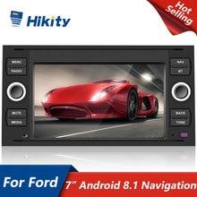 "Hikity 2 Din Car Multimedia Player 7 ""Audio estéreo enlace espejo GPS wi fi Radio de coche para Ford Focus 2 Mondeo C Max Kuga Fiesta"