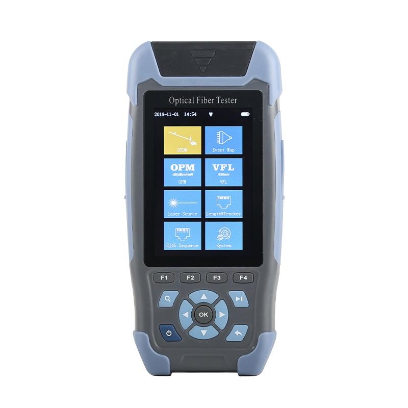 Мини волоконно оптический рефлектометр, рефлектометр Pro 980rev с 9 функциями VFL OLS OPM карта событий 24 дБ для 64 метрового кабеля Ethernet тестер