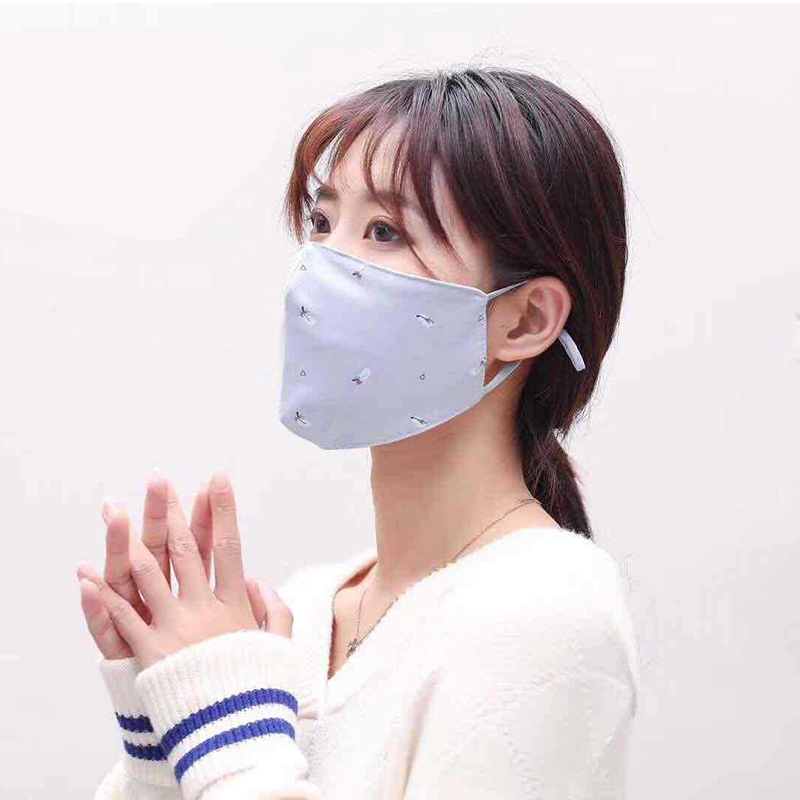 50pcs/lot Washable Printing Mask Non-Disposable Protect Cotton Breathable Dustproof Earloop Adjustable Non Woven Mouth Masks
