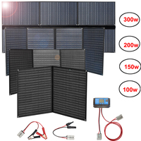 flexible foldable solar panel 300w 200w 150w 100w 12v charger portable folding waterproof 5v usb for phone car battery camping
