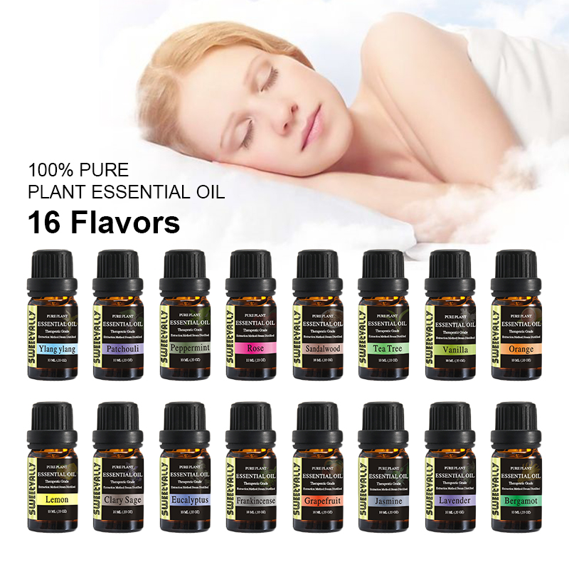 10ml Essential Oils Set Aromatherapy Kit Therapeutic Grade Oils For Body Massage Relax Gift 12 Flavors Freshening Essential Oil