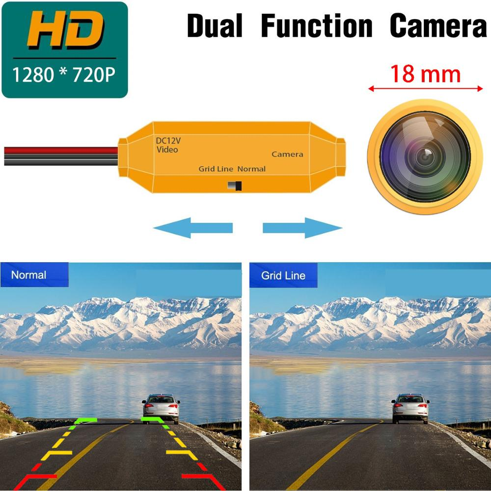 HD Golden Camera 1280x720p Reversing Camera Integrated in License Plate Rear View Backup Camera Compatible with Chevy Chevrolet Epica//LOVA//Aveo//Captiva//Cruze//LACETTI HRV//Spark A=2xScrew Hole