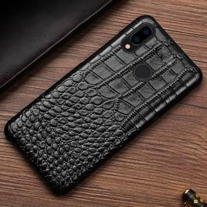 Image 4 - Skórzany futerał na telefon do Xiaomi Redmi Note 9 S 8 7 6 5 K30 Mi 9 se 9T 10 Lite A3 Mix 2s Max 3 Poco F1 X2 X3 F2 Pro krokodyl