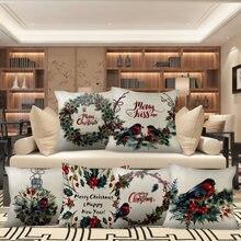 Nanacoba рождественские Чехлы для подушек Цветок Птица funda