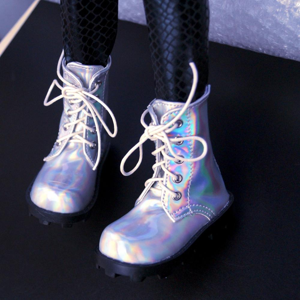 BJD SHOES Shiny Synthetic Leather Short Boots Shoes For 70cm Tall  SD17 BJD Doll Uncle DK DZ AOD DD Doll