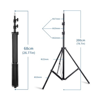 Image 5 - Photo Studio Double Arms Fill Selfie Ring light with 200cm Tripod Long LED Strips add Stand 3000K 600K LED For Camera