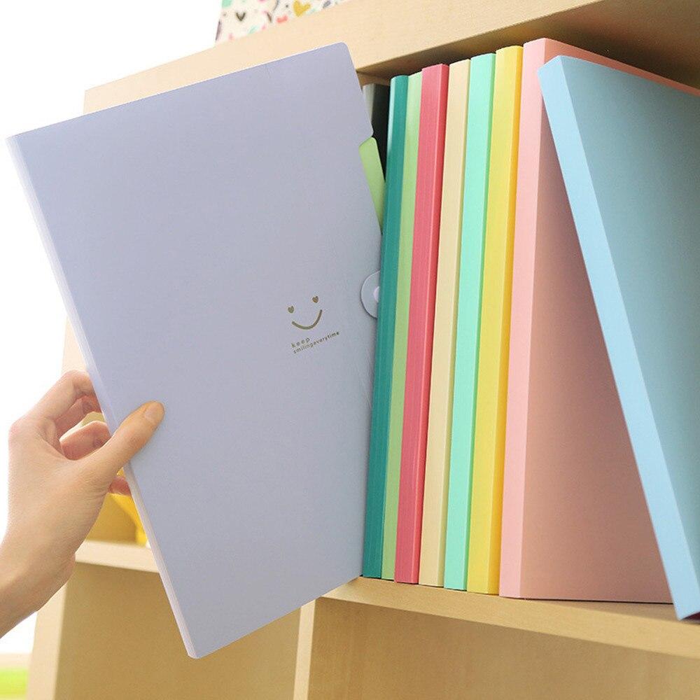 A4 File Document Bag Pouch Bill Folder Holder Organizer Fastener School Office Supplies Expanding File Folder Document Storages
