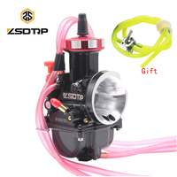 ZSDTRP Motorcycle PWK Carburetor 34 36 38 40mm Racing Scooters Dirt Bike ATV with Oil Fuel Filter Fuel Tube Set for 250cc Motos