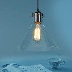 Nowoczesna oryginalność aleja lada do restauracji i baru sypialnia kawiarnia pojedynczy klosz europa północna przezroczysty szklany lejek żyrandol w Wiszące lampki od Lampy i oświetlenie na