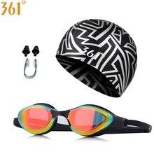 361 Professional Swim Goggles Adult Pool Tinted Multi Color Swimming Glasses Silicone Cap Men Women Anti-UV Goggle