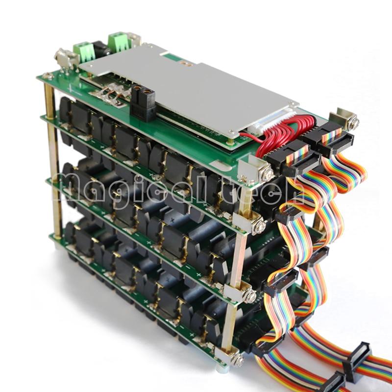 48V Power Wall 18650 Battery Holder 48v Battery Pack Lithium Balancer PCB 13s 14s 20A 45A