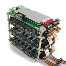 48V güç duvar 18650 pil tutucu 48v pil paketi lityum dengeleyici PCB 13s 14s 20A 45A BMS pil kutusu DIY Ebike pil