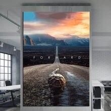Mindset frente decoração da casa parede imagens para sala de estar pintura em tela filme cartaz cuadros modernos