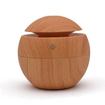 Wood Grain Ultrasonic Humidifier Aromatherapy Machine Humidifier Mute Bedroom Fragrance Lamp Plug-In Household