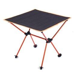 מיני מנגל אלומיניום סגסוגת חיצוני נייד טיולי נסיעות קל משקל עמיד קמפינג מתקפל שולחן Multiuse פיקניק שולחן