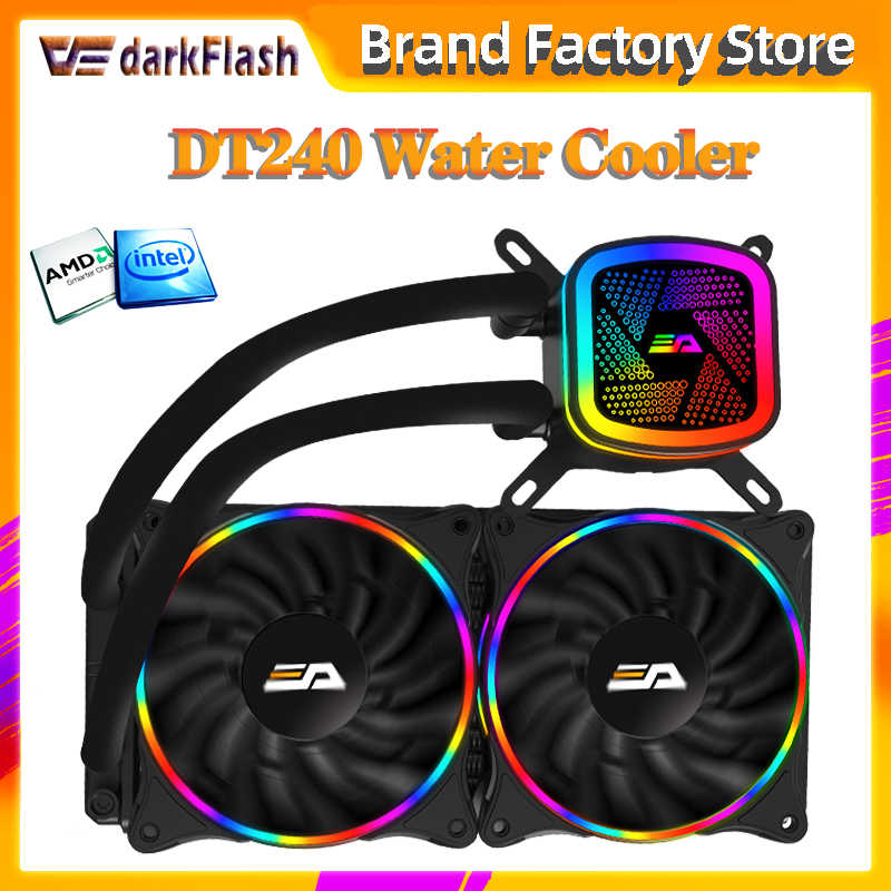 Aigo Darkflash Waterkoeling 120/240/360 Water Koeler Heatsink Rgb 120Mm Pwm Cpu Cooling Radiator Led Fan Lga 1151/2011/AM3 +/AM4