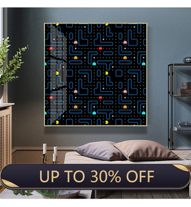 Classic Arcade Game Pac-Man Wall Art Canvas Painting Nordic Posters and Prints Wall Pictures for Living Room Home Decor