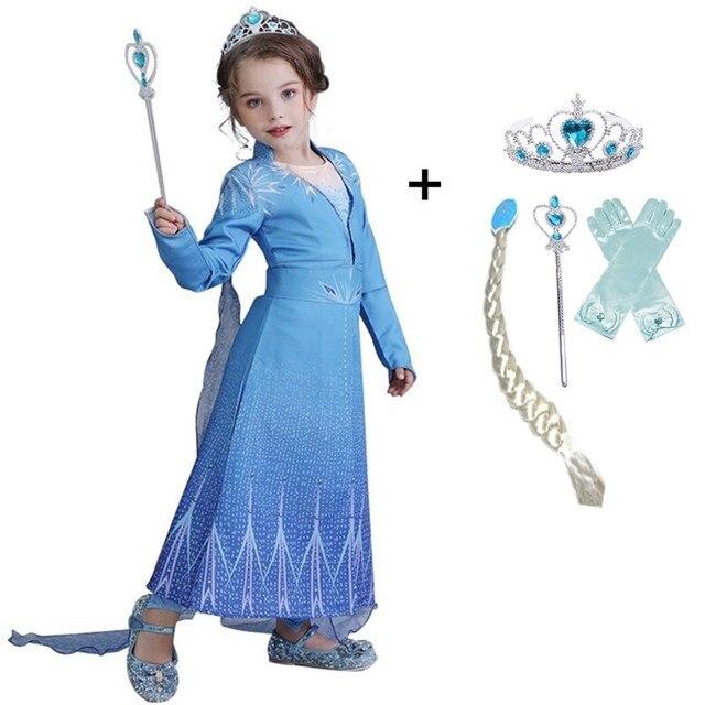Anna Elsa Girls Princess Dress