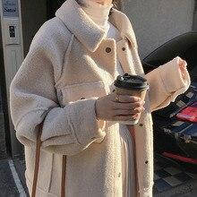 YOCALOR 2020 Тедди мех Весна Искусственная овчина пальто Женская Базовая куртка Бомбер осень бейсбольная куртка для женщин большие размеры Za Мод...