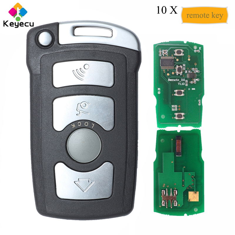 KEYECU 10PCS/Lot KYDZ Smart Remote Car Key Fob 315LP 315MHz 433MHz 868MHz ID7944 Chip for <font><b>BMW</b></font> CAS1 7 Series E65 E66 E67 E68 <font><b>745i</b></font> image