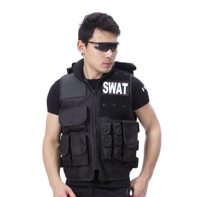 Hombre genuino táctico chaleco antibalas modelo táctico Molle negro chaleco Cs chaleco protector Swat equipo LYZ, tácticas SWAT, escudo, juguetes para juego de callos