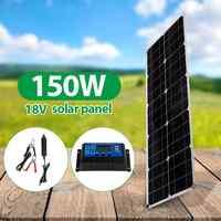 cargador portatil para celular Panel Solar de 18V 150W Banco de energía USB para teléfono inteligente Kit completo de Panel Solar IP65 impermeable Flexible para acampar en barco al aire libre