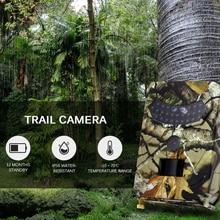 2021 PR-100 Hunting Camera 12MP Photo Trap Night Vision Trail Cameras 1080P Scout IP56 Waterproof 110 Degree Angle Wild Hunter