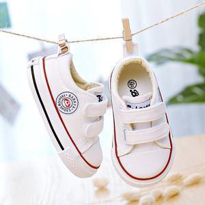 Image 1 - ילדי בד נעלי תינוק נעליים רך תחתון 1 3 שנים 2019 אביב חדש לבן נעלי החל בני בד פעוט נעלי בנות