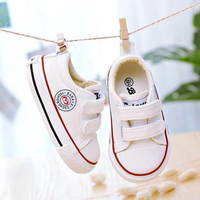 ילדי בד נעלי תינוק נעליים רך תחתון 1 3 שנים 2019 אביב חדש לבן נעלי החל בני בד פעוט נעלי בנות