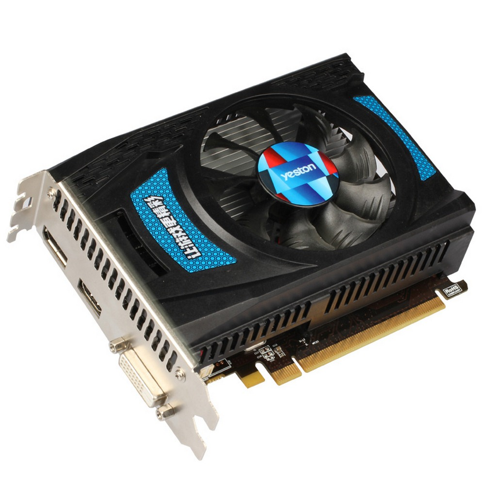 Yeston RX550 4G D5 Extreme Edition Home Game Desktop 550 Independent Graphics Card Low Power Consumption 4g
