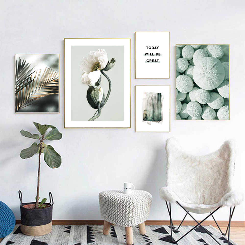 Groen Blad Groene Plant Poster Nordic Stijl Quote Wall Art Canvas Botanische Print Schilderij Modern Home Decoration Foto Painting Calligraphy Aliexpress