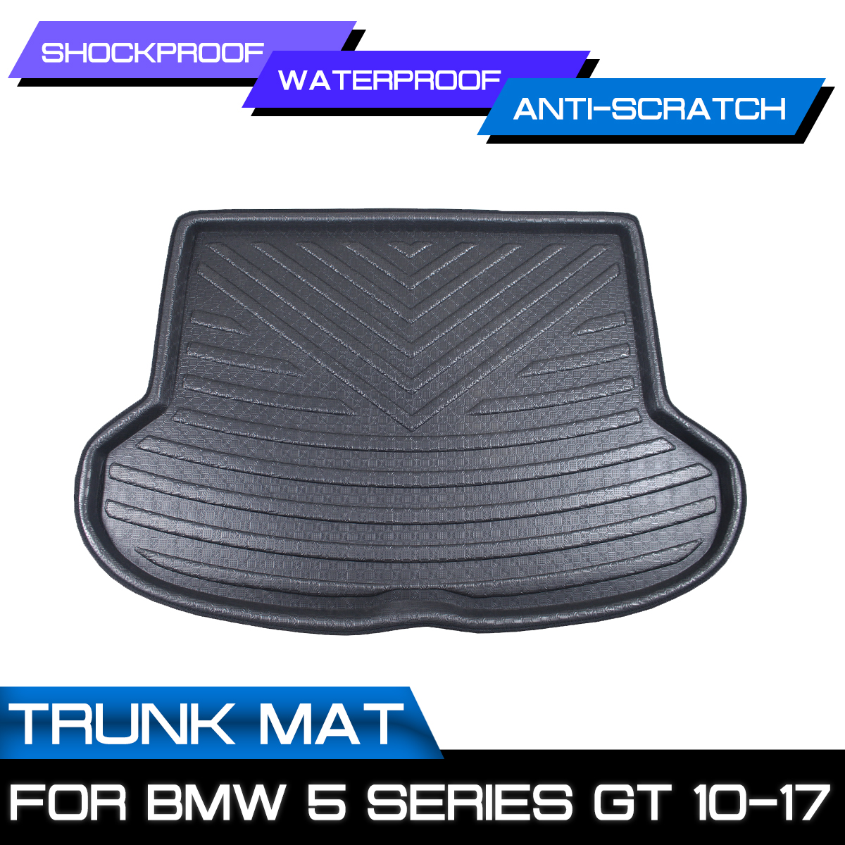 Car Floor Mat Carpet Rear Trunk Anti mud Cover For BMW  5 Series GT 2010 2011 2012 2013 2014 2017|Floor Mats| |  - title=