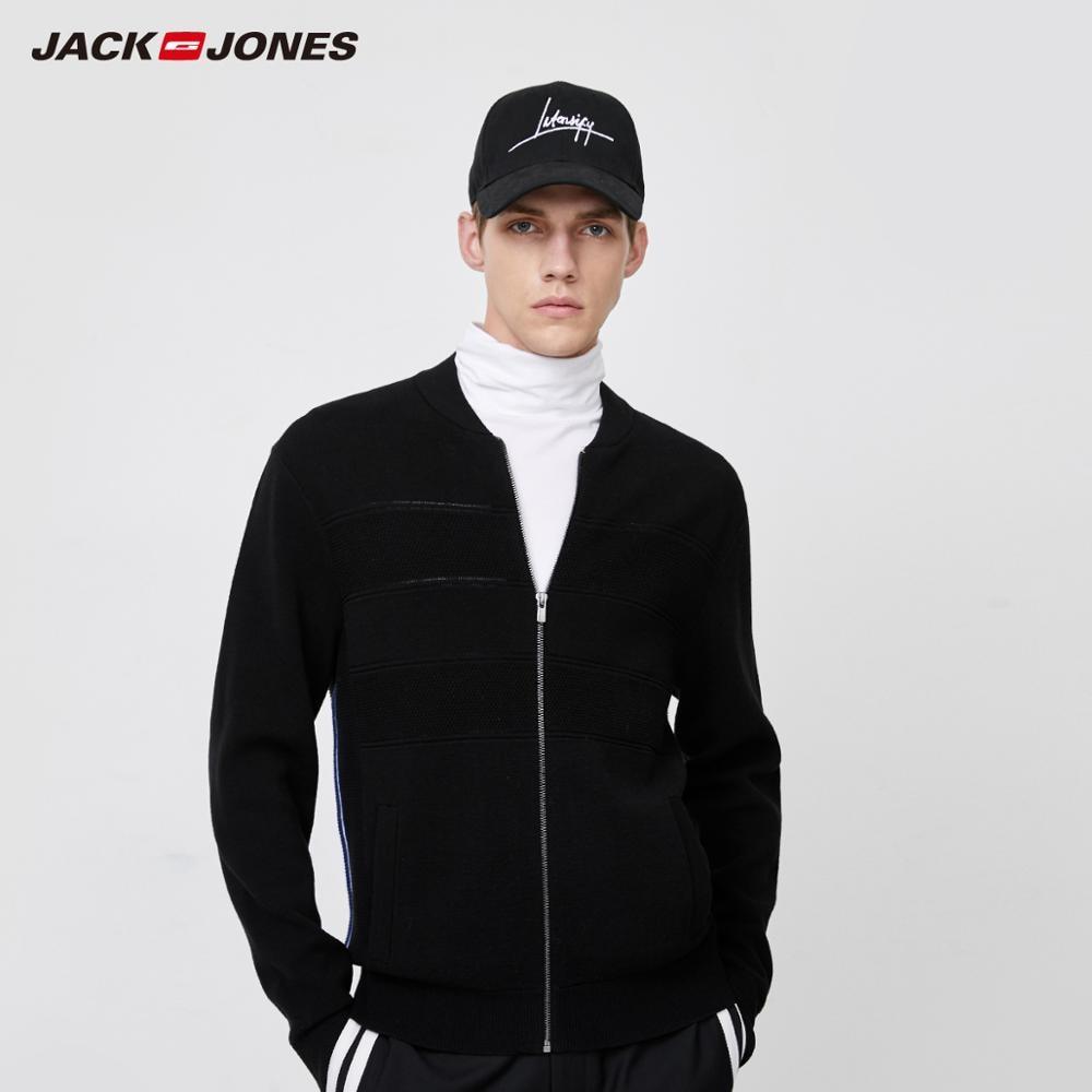 JackJones Men's Winter Classic Baseball Collar Knit Sweater Sports| 220124501