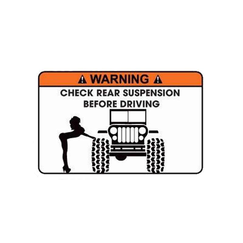 Aliauto 警告車のステッカーチェック享受サスペンション駆動する前に面白いアクセサリー Pvc デカール起亜リオパサート B6 、 15 センチメートル * 9 センチメートル