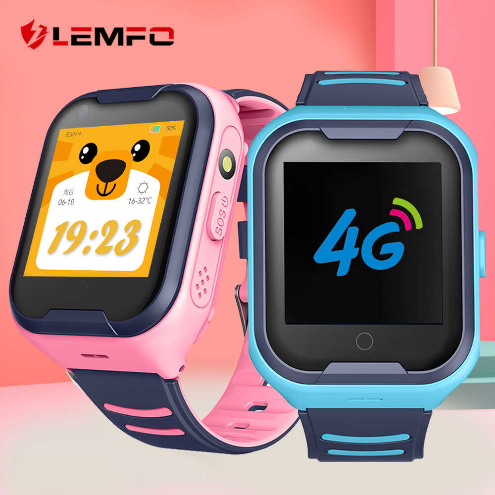 LEMFO 4G Kids Smart Watch GPS WIFI Support SIM Card Call Camera Full Touch Smart Watches for Children Waterproof Kids Watches