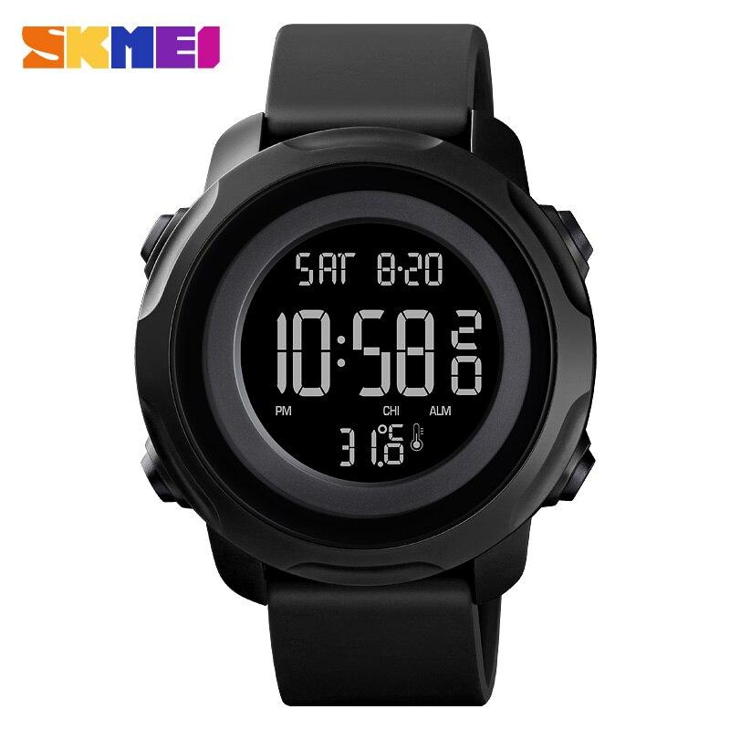 SKMEI Body Temoerature цифровые часы модные мужские часы светодиодный светильник наручные часы 50 м водонепроницаемые часы мужские часы Relogio Masculino|Цифровые часы|   | АлиЭкспресс