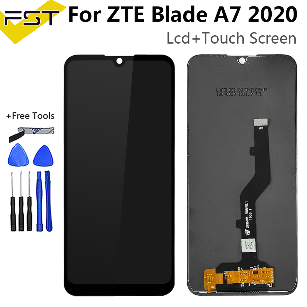 Black 6.09 Inch For ZTE Blade A7 2020 LCD Display And Touch Screen Digitizer Sensor Assembly With Tools For ZTE A7 2020