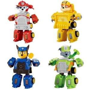 Image 2 - Nuovo paw pattuglia cane anime giocattolo figurine giocattolo di plastica modello di azione variabile fantoccio modello cane patrol giocattolo per bambini regalo Di Natale