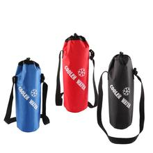 Outdoor Universal Drawstring Water Bottle Pouch High Capacity Insulated Cooler Bag for Traveling Camping Hiking Bag mounchain camping drawstring water bottle pouch high capacity insulated cooler bag for traveling camping hiking
