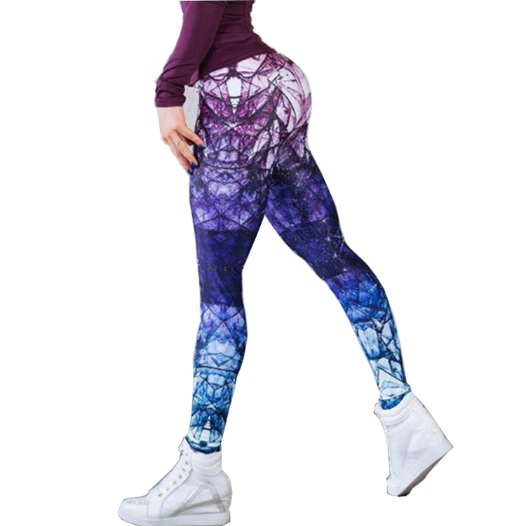 New 3D Printing Yoga Pants Women High Waist Print Sports Legging Fitness Gym Running Tights Female Athletic Breathable Pants