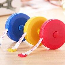 1x Random Color Mini Measuring Tape Measure Retractable Metric Belt Colorful Portable Ruler Centimeter Inch Height Ruler#30