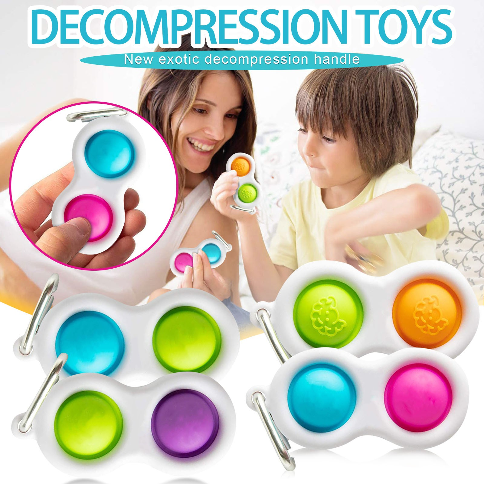 Fidget-Toys Pressure-Reliever-Board Decompression Gift Popit Adult Simple Dimple Children