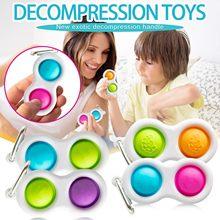Em Estoque Controlador de Placa De Pressão Apaziguador Do Esforço Criativo Crianças Brinquedo Adulto Covinha Covinha Fidget Brinquedos Descompressão Presente антистресс