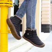 Мужская повседневная обувь плюшевые теплые мужские модные рабочие