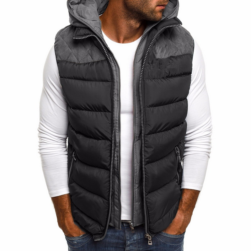 Winter Coat Vest Men Warm Sleeveless Jacket Casual Waistcoat Cotton Vest Hooded Coat 5XL Plus Size Duck Down Jacket Men Vest