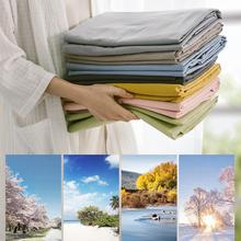 1PC Cotton Sheets Single Piece Cotton Thickened Solid Color Student Dormitory Single Double Ins Wind Queen Size Bed Sheets Set