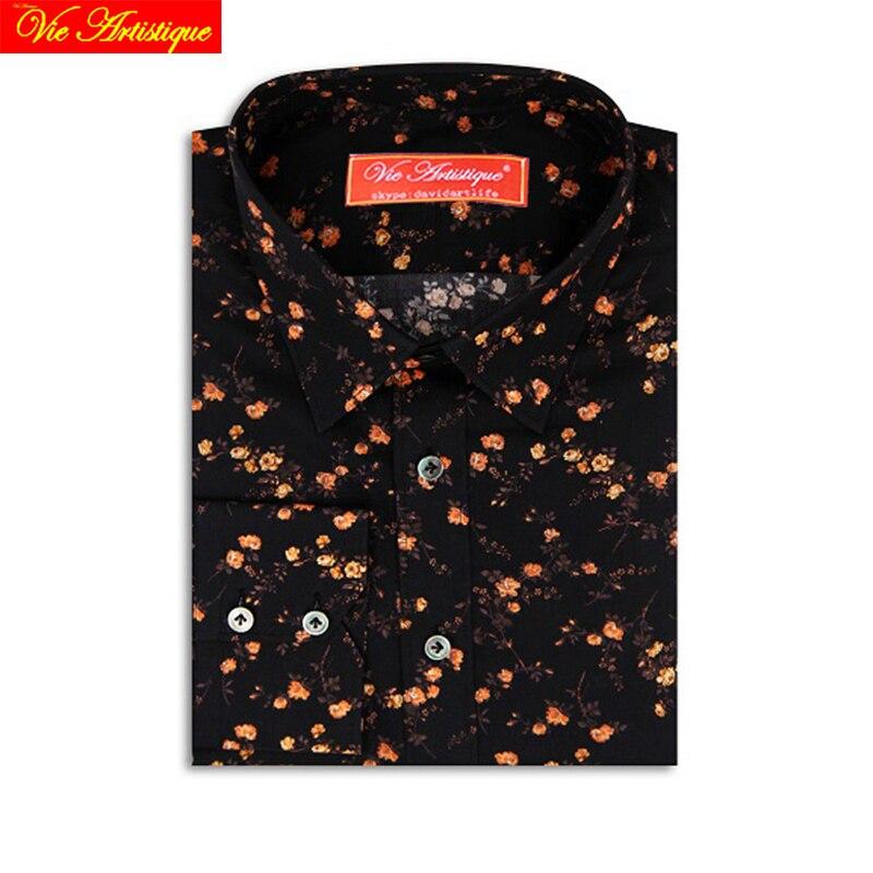Custom Tailored Women Men Bespoke Dress Shirts Business Casual Wedding Blouse Black Yellow Floral Cotton UK LIBERTY Tailorsuit