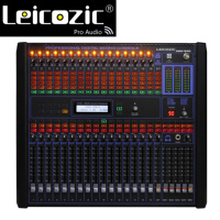 Leicozic 16 Channel Digital Audio Mixer 19rack mount mixers professional mixing console digital dj equipment live mixers stage